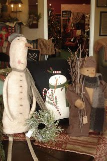 Prim Grubby Snowman...sittin' on a bench...by Gatherings For The Home.