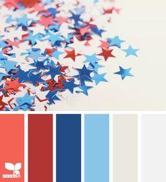 <3 Farbkonzept rot, blau/dunkelblau, creme