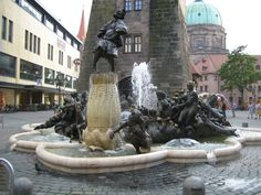 Nuremberg ~ Bavaria ~ Germany ~ This lurid German fountain plots the sad course of marriage from dating to death. Rothenburg Ob Der Tauber, Thing 1, Bavaria Germany, Places Ive Been, Fountain, Around The Worlds, America, City, Statues
