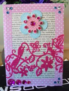 Pink Flowers, Awesome, Unique Jewelry, Handmade Gifts, How To Make, Cards, Etsy, Vintage, Kid Craft Gifts