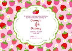strawberry shortcake invitation