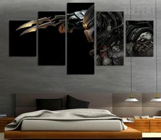 Alien Vs. Predator Painting - 5 Piece Canvas