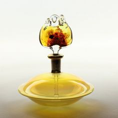 One of our most precious perfume bottles - handmade, flameworked glass art piece, available to purchase in Intuita Shop!