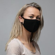 This durable face mask is made from two layers of treated fabric and features elastic ear loops and a center flat seam that ensure a close fit. The Face, Mcdonalds, Memorial Day, Apocalypse Now, Df Mexico, Plain Black, Mode Outfits, Winter Outfits