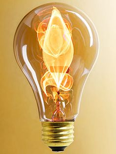 """Reminiscent of a gas light in a quiet room, this """"electric flame"""" bulb is beautiful."""