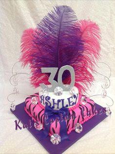 Bling zebra stripe cake