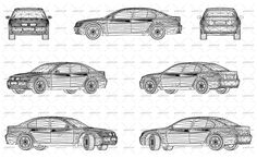 Wireframe design of modern and luxury car