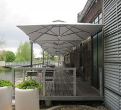 Square Commercial Umbrellas | P6 Series | Shelter | Outdoor - Living
