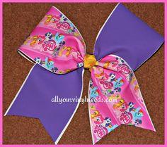 Custom 3  My Little Pony CHEER bow by Kreationz4kidzdotcom on Etsy, $13.50