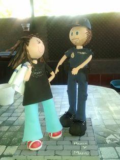 Fofucho policia y su mujer.