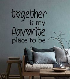 Excited to share the latest addition to my #etsy shop: Together Favorite Place Decal, Vinyl Wall Lettering, Vinyl Wall Decals, Vinyl Decals, Vinyl Letters, Romantic Wall Quotes, Love Quote http://etsy.me/2CYDPU3 #homedecor #wedding #valentinesday