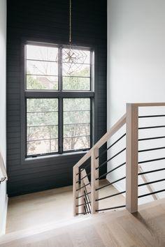 Iron Stair Balusters, Interior Stair Railing, Modern Stair Railing, Wrought Iron Stairs, Staircase Railings, Staircase Design, Modern Stairs Design, Staircases, Stair Case Railing Ideas