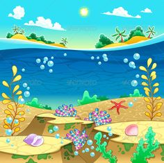 Buy Under the Sea by ddraw on GraphicRiver. Under the sea. Vector and cartoon illustration. Folder contains: EPS file; Drawing For Kids, Art For Kids, Under The Sea Drawings, Palm Tree Clip Art, Wave Clipart, Ocean Illustration, Fun Arts And Crafts, Animal Decor, Cartoon Pics