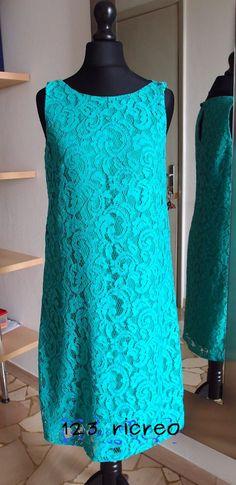 #Abito in Pizzo verde acqua - 123ricreo tutorial - #sewing