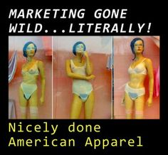 American Apparel Hairy Mannequins