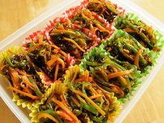 野菜の塩昆布炒め~弁当用冷凍~