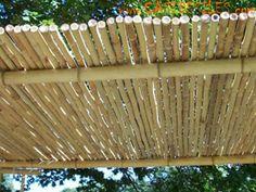 toitures de terrasses en bambou en rouleaux
