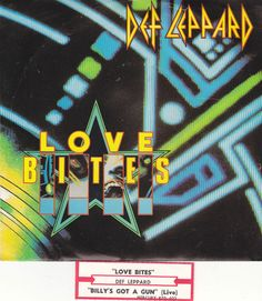 "Def Leppard / Love Bites / Billy's Got A Gun / 7""  Vinyl 45 RPM Record, Picture Sleeve, and Jukebox Strip #DefLeppard #Rock"