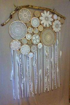 Bluetip Phoenix Dreamsculpt Commission by TheRedMeadows - Haber Alka Doily Dream Catchers, Dream Catcher Craft, Crochet Dreamcatcher Pattern, Doilies Crafts, Diy And Crafts, Arts And Crafts, Deco Boheme, Linens And Lace, Crochet Projects