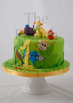Cake for toddlers - Gateau D'anniversaire Pour Enfants Animaux de la Jungle - Verjaardagstaart