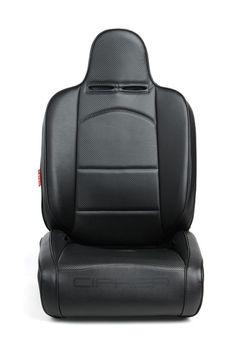 Pair All Black Leatherette Cipher Auto Universal Reclinable Suspension Seats
