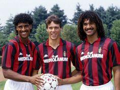 Rijkaard, Van Basten and Guillit. Circa 1989.