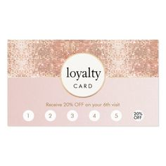 Pink and rose gold sequin salon 6 punch loyalty pack of standard business cards beauty room Home Nail Salon, Nail Salon Design, Nail Salon Decor, Beauty Salon Decor, Beauty Salon Design, Nail Salon Names, Beauty Salon Names, Beauty Salons, Salons Decor