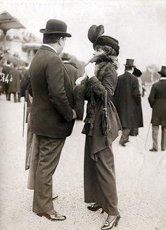 Tête à tête at the races. France.