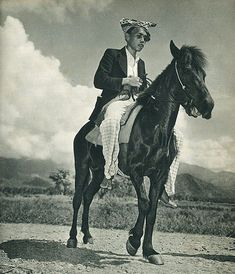 Man from Sulawesi on a horse, circa 1952