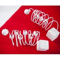 Fil metallique de decoration 2 mm deco glamour rouge blanc