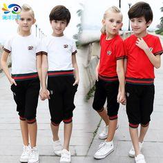 Baby дети мальчики девочки костюмы летняя одежда устанавливает бренд детская одежда 2016 мода костюм школа топ футболка + брюки спорт трикотажные изделия(China (Mainland))
