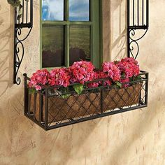 European-Style Rust-Resistant Powder-Coated Metal Window Planter Box