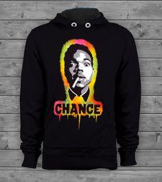 Chance The Rapper Acid Rap Black Airbrush Stencil Hip Hop Graffiti Rap Hoodie