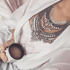 Read More About Glamorous Over The Top Statement Necklace - Happiness Boutique Over The Top, Statement Necklace Outfit, Statement Jewelry, Gold Necklace, Simple Necklace, Rhinestone Necklace, Beaded Jewelry, Jewelry Necklaces, Silver Necklaces