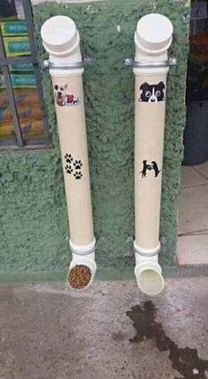 Resultado de imagen de Cómo construir un comedero para perros en la calle