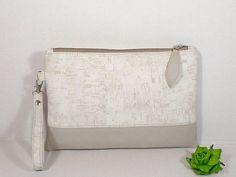 Cork leather purse, clutches, bridesmaid, Wedding bag, Evening purses, atelierDiana, etsy