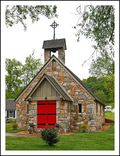 The Good Shepherd Episcopal  (Virginia, USA) is a beautiful stone church out in the country whose cornerstone was laid in 1924.