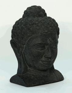 Asian Decor: Large Stone Buddha Head from China