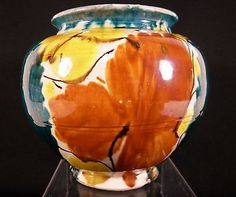Vintage Dripware Oaxaca Mexican Majolica Art Pottery Vase   eBay