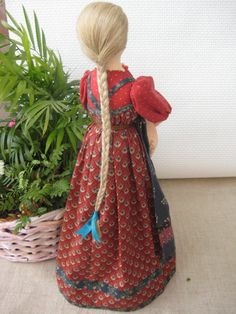 Авторская текстильная интерьерная кукла Девушка с от TinaVanDijk