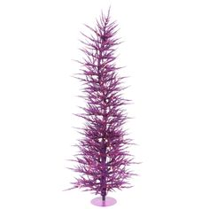 3\' Pre-Lit Purple Laser Christmas Tree - Purple Lights