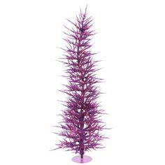 3\' Pre-Lit Purple Laser Christmas Tree - Purple Lights