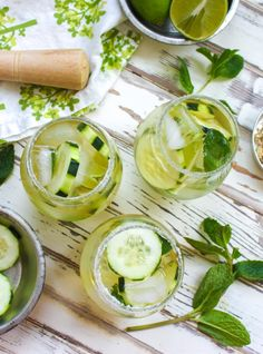 Cucumber & Green Tea Mojito - Vegetarian and Vegan Recipes - Cooking Stoned
