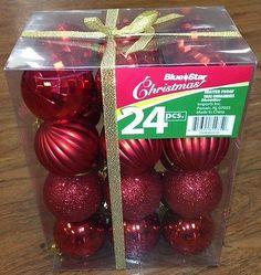 24 pk 60mm Plastic Balls for Christmas Trees