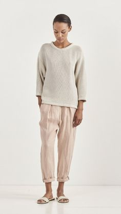Linen Easy Pant by Raquel Allegra