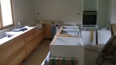 How to build a kitchen Kitchen Cabinet Design, Kitchen Cabinets, Building A Kitchen, Home Remodeling, Construction, Storage, Furniture, Home Decor, Building