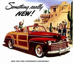 12946 Ford Sportsman Convertible Car Ad