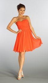 Orange Dress Prom Orange Bridesmaid Gown Orange Cocktail Formal