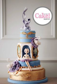 As seen in the Art issue of Cake! magazine, February 2017 by Sydney DJ Cakes Rea… As seen in the Art issue of Cake! magazine, February 2017 by Sydney DJ Cakes Read our free e-mag here: Ballet Cakes, Dance Cakes, Ballerina Cakes, Gorgeous Cakes, Pretty Cakes, Cute Cakes, Amazing Cakes, Dj Cake, Cake Art