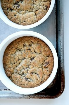 Deep-dish chocolate chip cookies. edited to add link to recipe